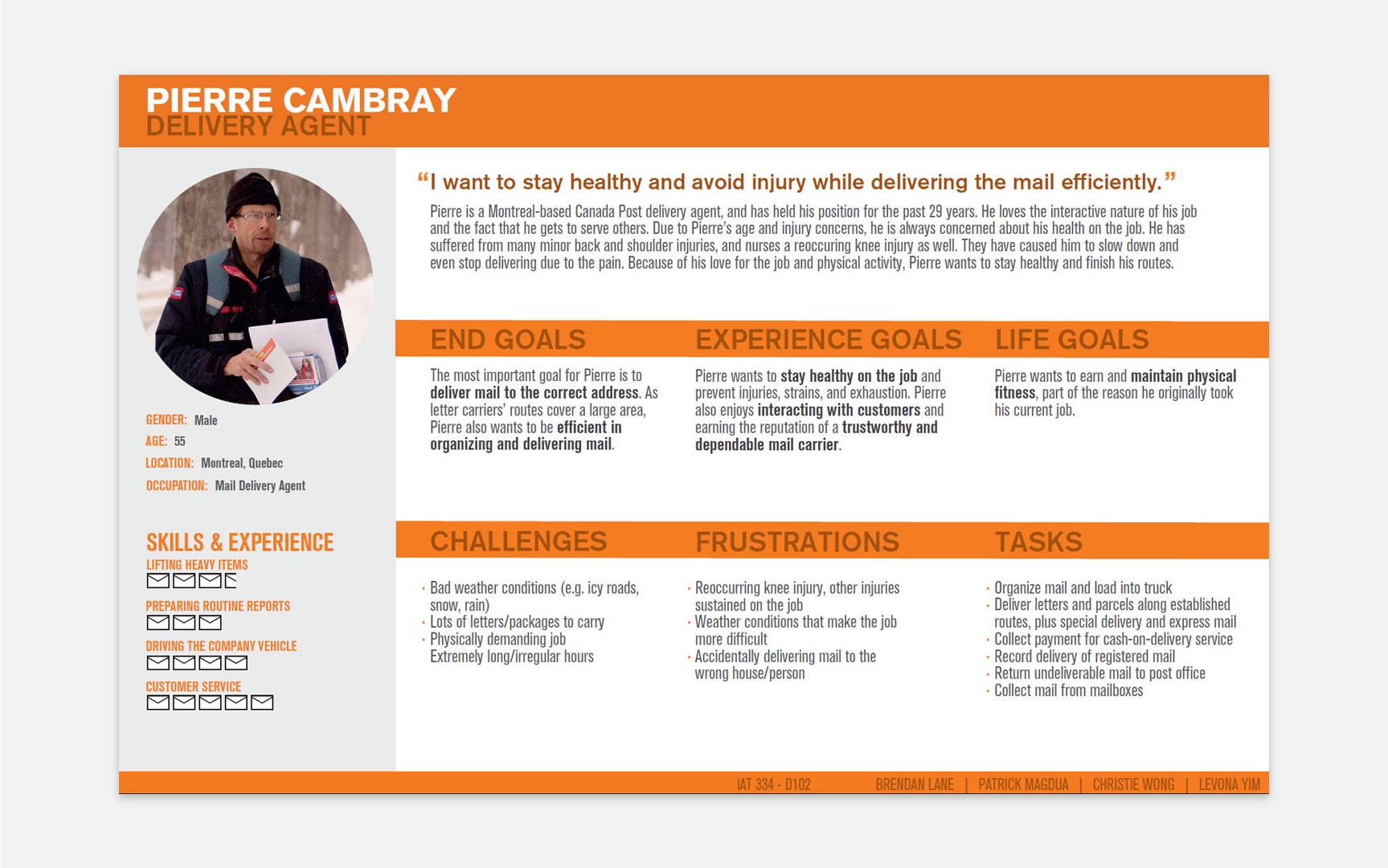 Pierre Cambray, a persona for our Optimail app.